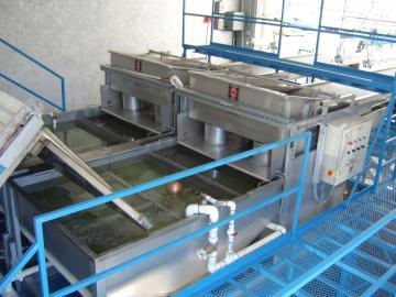 Deux séparateurs hautes capacité en parralèle = 5 tonnes / heure